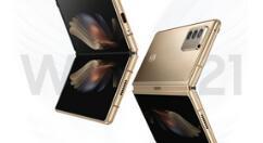 """三星联合中国电信即将推出 Galaxy Z Fold 3 小改款""""心系天下"""" W22 5G 手机"""
