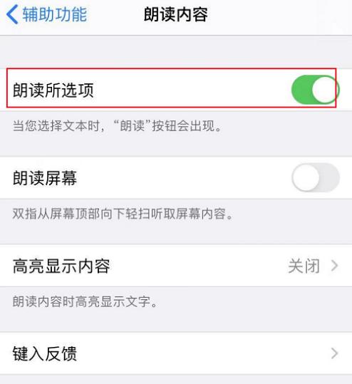 苹果12怎样设置朗读功能
