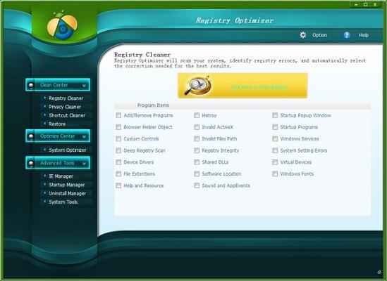 Aiseesoft Registry Optimizer截图0