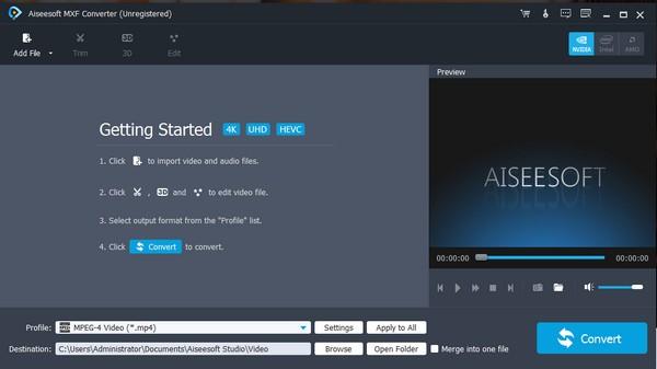 Aiseesoft MXF Converter截图0