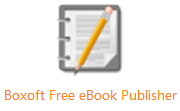 Boxoft Free eBook Publisher段首LOGO