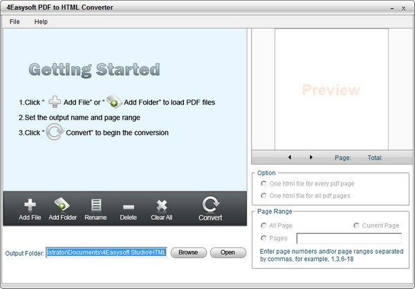 4Easysoft PDF to HTML Converter截图0